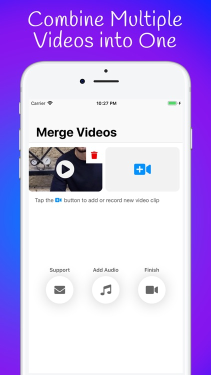 Video Merger of Multiple Clips