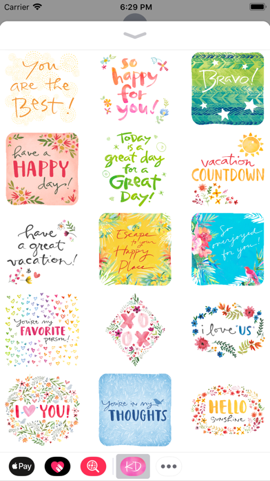 Kathy Davis Stickers screenshot four