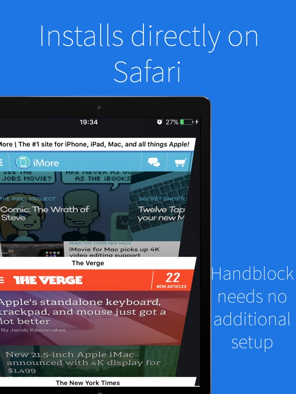 Handblock - Block Safari ads Screenshots