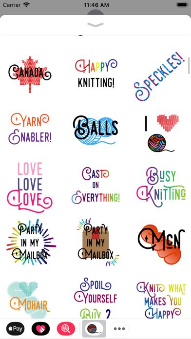 Knitting Stickers screenshot three