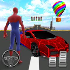 SuperHero Ramp Car Stunt 3D