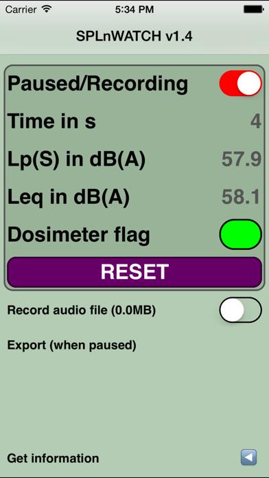 SPLnWATCH (SPLnFFT extension) screenshot one