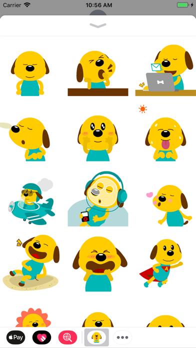 Yellow Dog Animated Stickers screenshot one