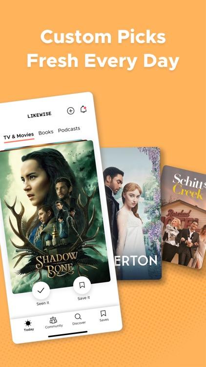 Likewise: Movie, TV, Book Recs