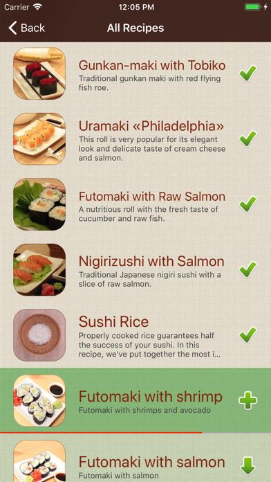 Screenshot for Sushi Recipes Cookbook in Azerbaijan App Store
