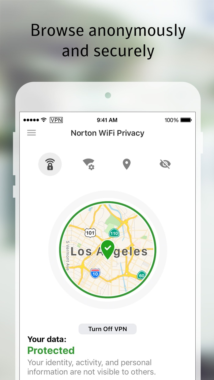 Norton WiFi Privacy VPN Proxy Screenshot