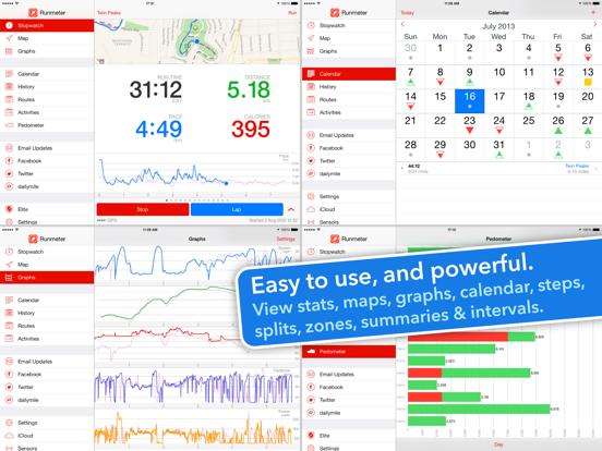 Runmeter Running & Cycling GPS iPad app afbeelding 3