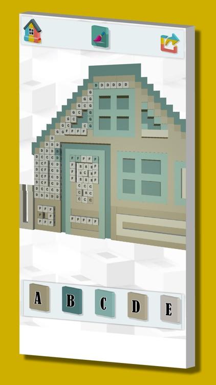 Color with number pixel art 3D screenshot-3