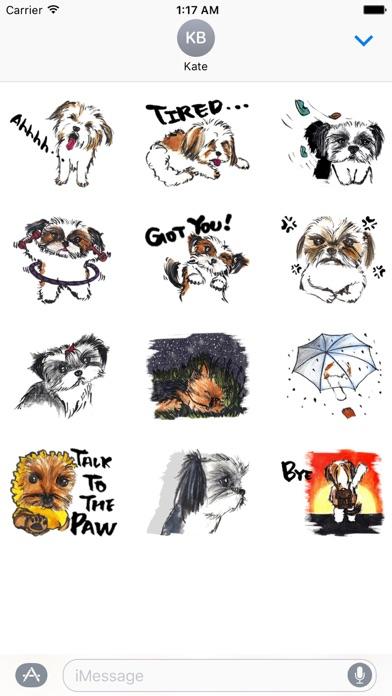 Yorkie And Shih Tzu Sticker screenshot 3