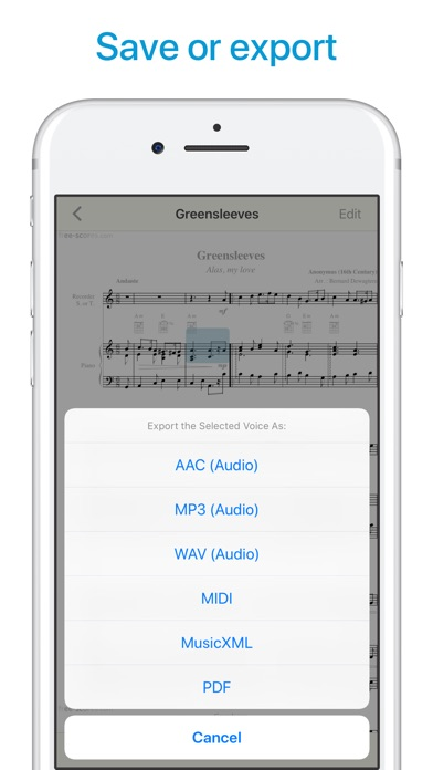 Sheet Music Scanner app image