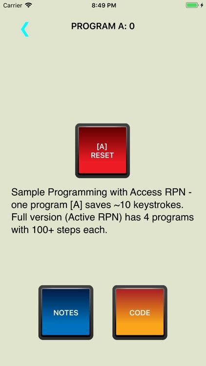 Access RPN Calculator