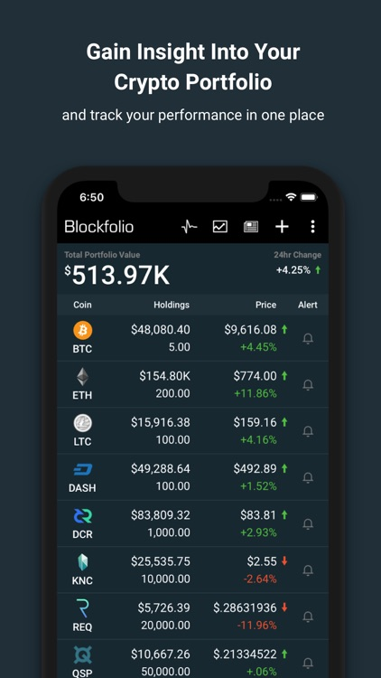 Blockfolio Bitcoin Altcoin App screenshot-0