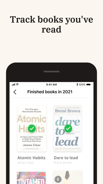 Basmo Book Tracker,Reading Log screenshot-7