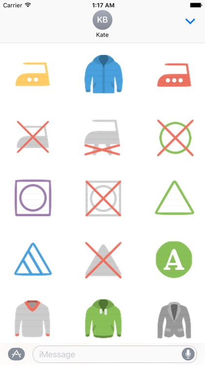 Clothes And Shoes Icon Sticker screenshot-7