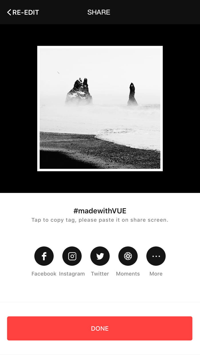 VUE - movie & video editor Screenshot