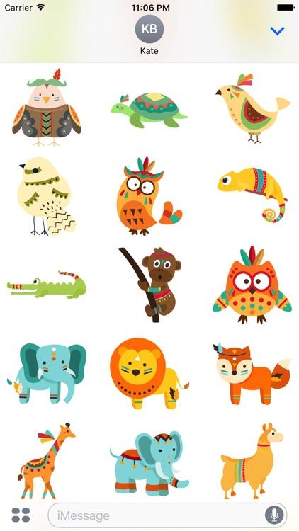 Tribal Animals Fun Stickers