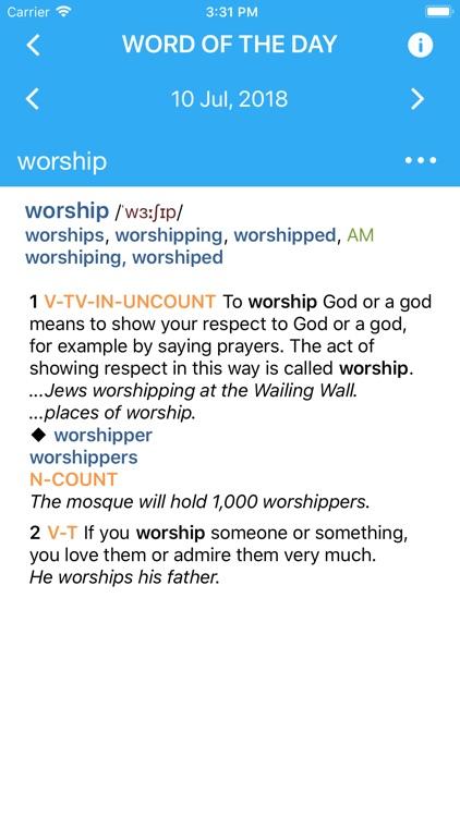 Collins COBUILD Dictionary screenshot-3