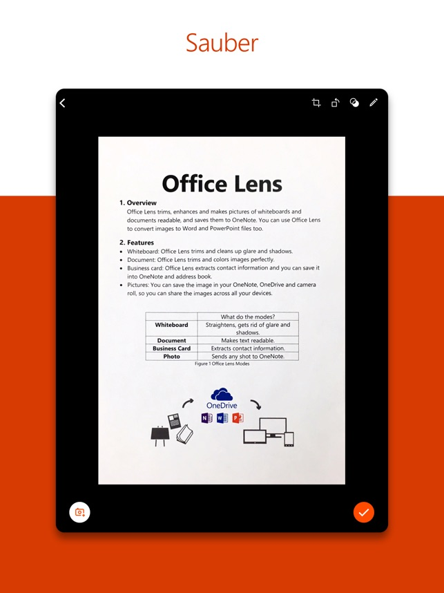 Microsoft Office Lens Pdf Scan Im App Store