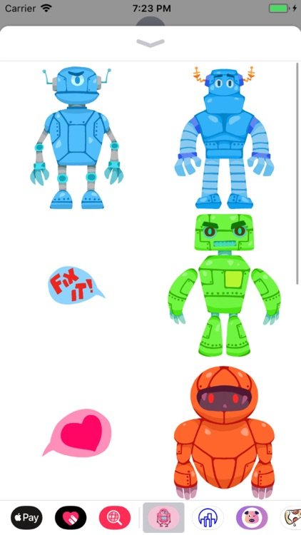 Colorful Robots Stickers