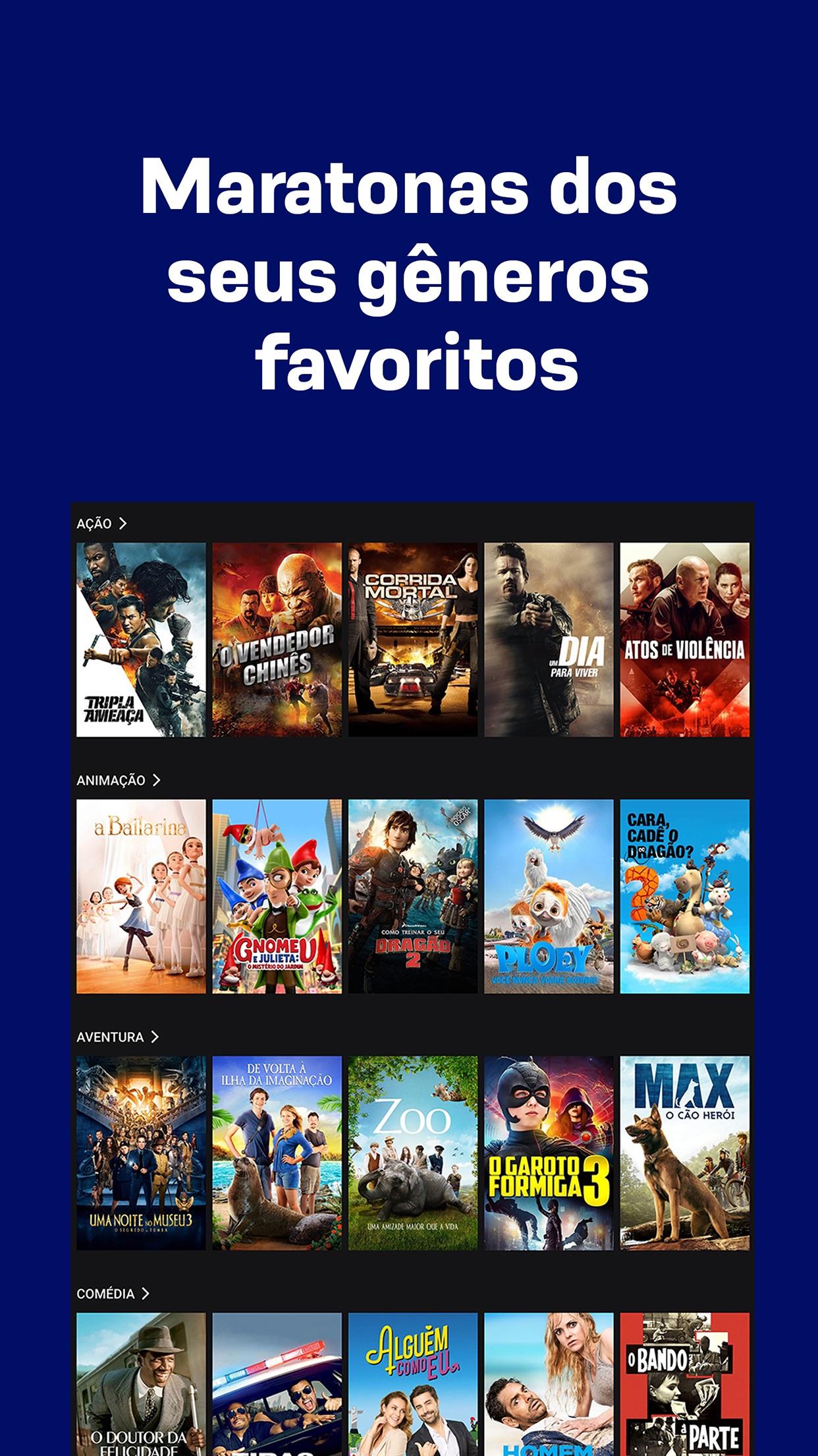 Screenshot do app Telecine: Filmes em streaming