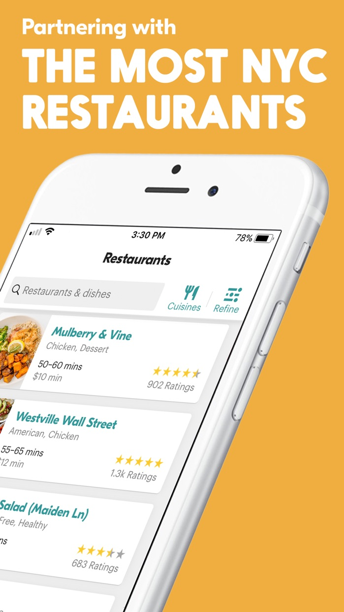Seamless – Local Food Delivery Screenshot