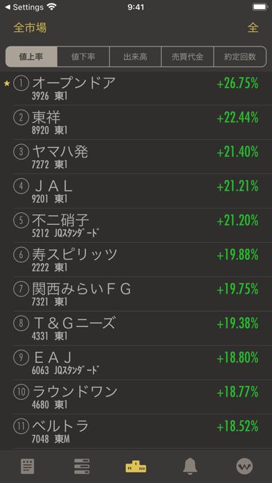 StockWeather - リアルタイム株価 ScreenShot6
