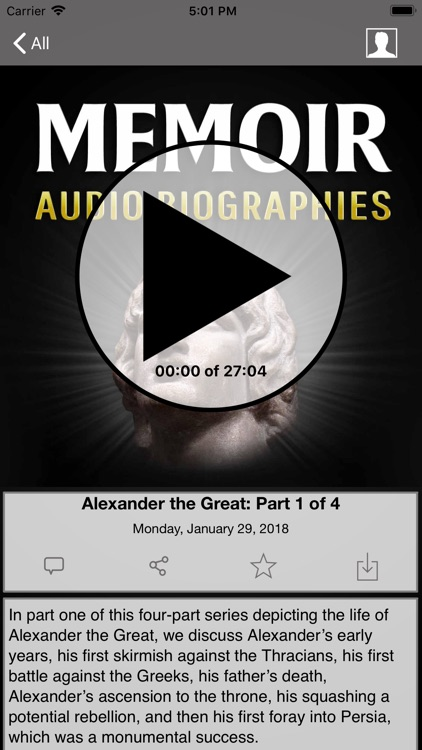 Memoir: Audio Biographies