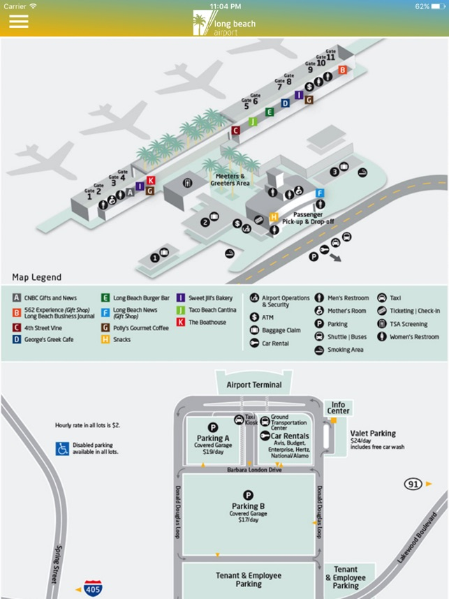 Long Beach Airport  LGB    WorldAtlas together with  likewise Airport Information for Greater Los Angeles likewise Resorts Los Angeles   About Us   Pacific Palms Resort additionally Long Beach Airport  LGB    Homepage moreover Long Beach Transit Service to CSULB in addition  also Maps   Long Beach City Guide likewise LGB  Long Beach Airport Terminal Map   airports   Pinterest   Long additionally Long Beach Airport gets Southwest boost likewise Long Beach Airport  LGB    Parking and Directions moreover Go Long Beach Airport on the App Store together with Long Beach California City Google Maps California Long Beach together with Myrtle Beach International Airport   MyrtleBeach as well Parkers' Lighthouse in addition History   Long Beach Airport ociation. on long beach airport map
