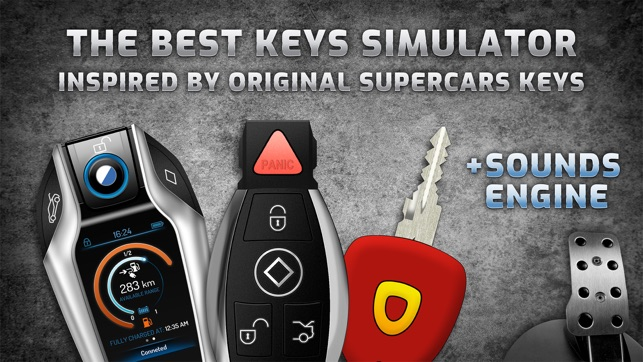 Keys and engine sounds of cars on the App Store