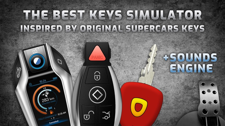 Keys and engine sounds of cars
