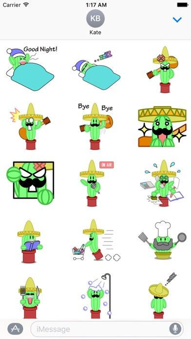 Mexico Cactus Music Band Emoji screenshot 3