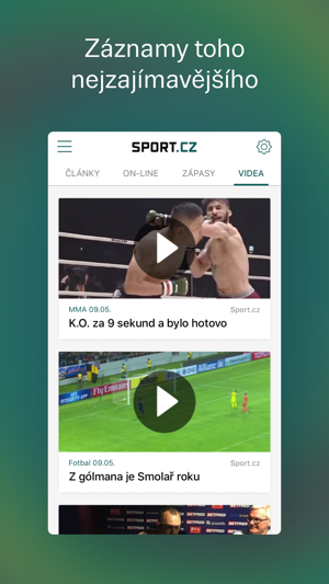 Sport.cz Screenshot