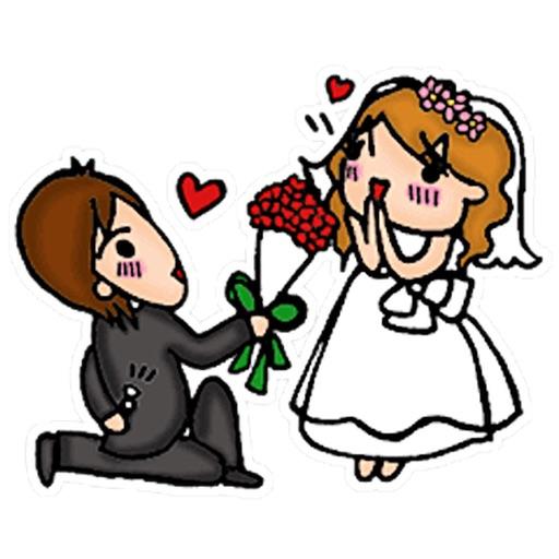 A Bride In Her Wedding Sticker