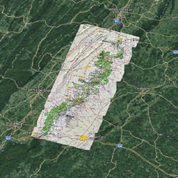 Skyline Dr Shenandoah Tour Map