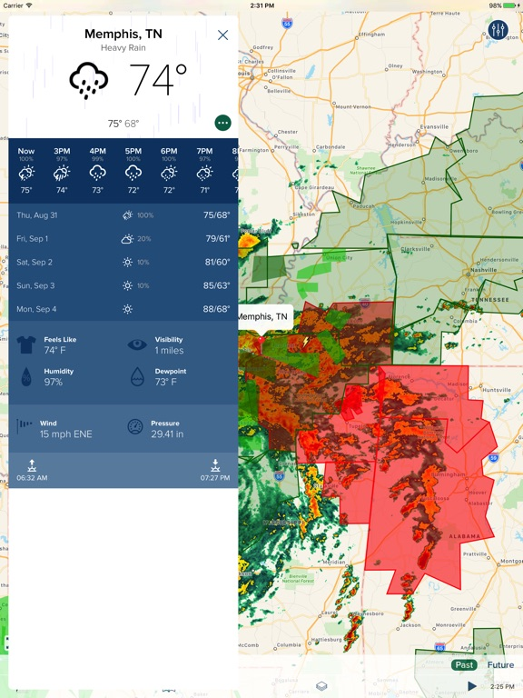 NOAA Hi-Def Radar Pro iPad