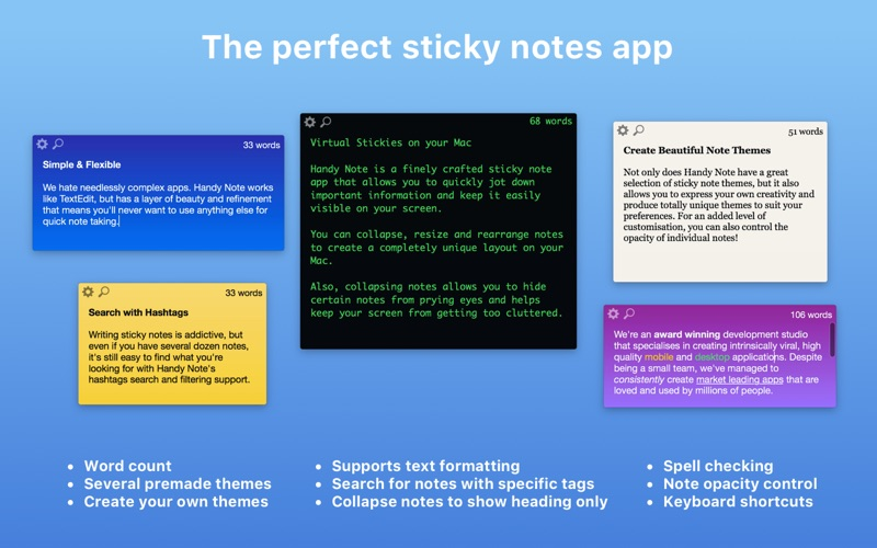 Handy Note - Sticky Notes | App Price Drops