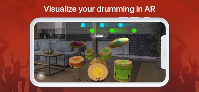 real drums free drum set machine in your pocket review app ed review. Black Bedroom Furniture Sets. Home Design Ideas