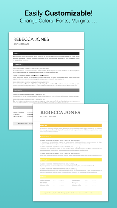 Resume Templates (for Pages)屏幕截图3