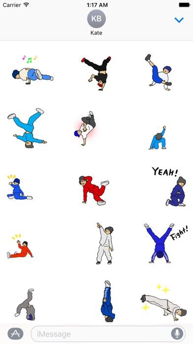 Hip-Hop Animated Stickers screenshot one