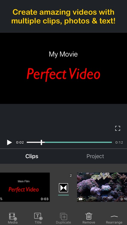 Perfect Video Editor, Collage