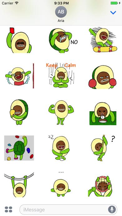 Avocado Love Sport Sticker Screenshot
