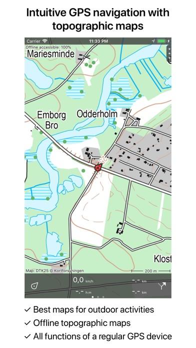 Denmark Topographic Map.Topo Gps Denmark App Price Drops