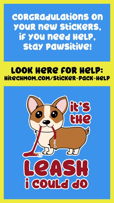 Corgi Puns - cute dog stickersのおすすめ画像4