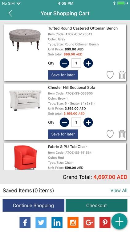 AtoZ Furniture Screenshot 3