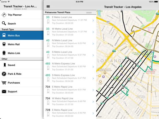Transit Tracker - Los Angeles-ipad-1