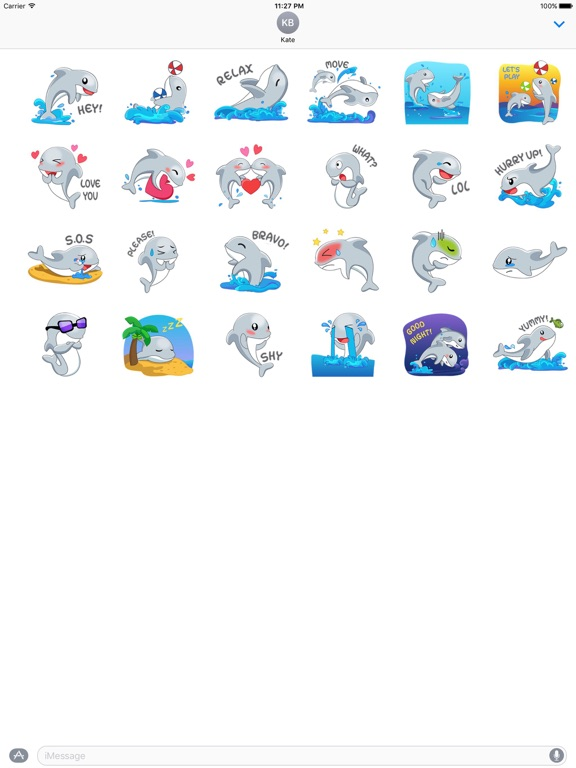 Adorable Dolphin Sticker screenshot 3