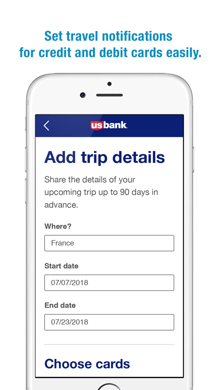 U.S. Bank Screenshot