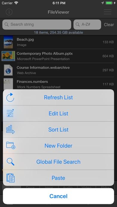 FileViewer USB for iPhone Screenshots