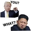 Trump And Kim Emoji Sticker