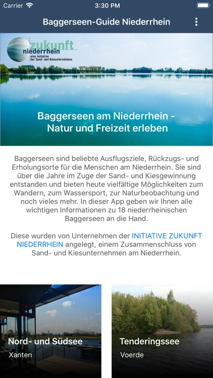 Baggerseen-Guide Niederrhein